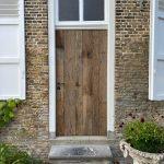 Robuuste barnwood voordeur - totaal beeld